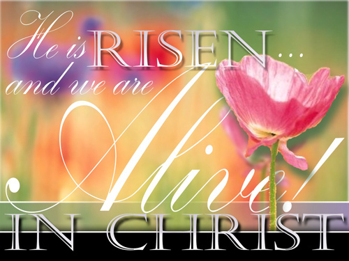 Happy Easter He Is Risen Jesus Christ
