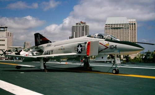 For all the Navy folks - U.S. Navy Phantom on the USS Midway!