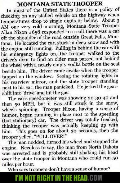 Montana State Trooper