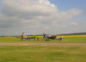 The P.40 had just landed after a great practice session