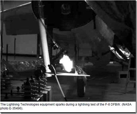 F-8 DFBW Lightning Tests