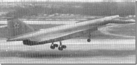 Sukhoi T-4 landing