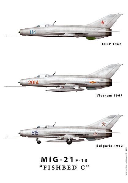 "MiG-21f-13 ""Fishbed-C"". Image credit Wikipedia."