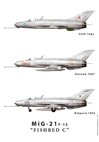 "MiG-21f-13 ""Fishbed-C"". Image credit Wikipedia."