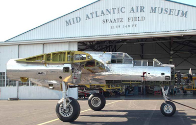 The MAAM's P-61B Black Widow as she currently appears.