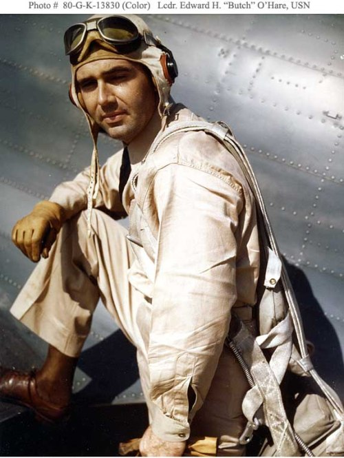 Medal-of-Honor-OHARE-Edward-H.-Butch-Lieutenant-Commander-USN-with-Grumman-F4F-3-Wildcat