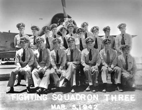 VF-3: Front row, second from right: Lt. Edward Butch O'Hare.