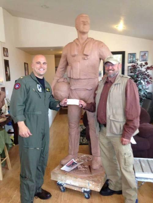 Lemoore Aviator's Statue