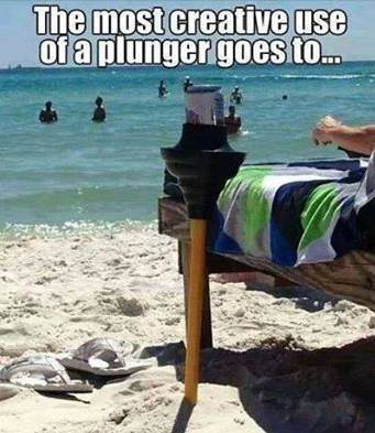 The most creative use of a plunger goes to.......